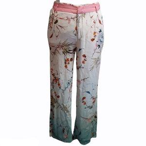 Zara Woman's pink white blue floral Pants Size S